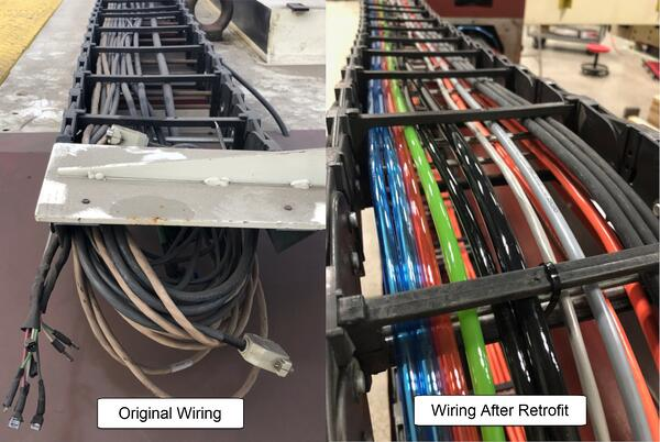 upgraded airlines and wiring on DEA Delta Gantry CMM
