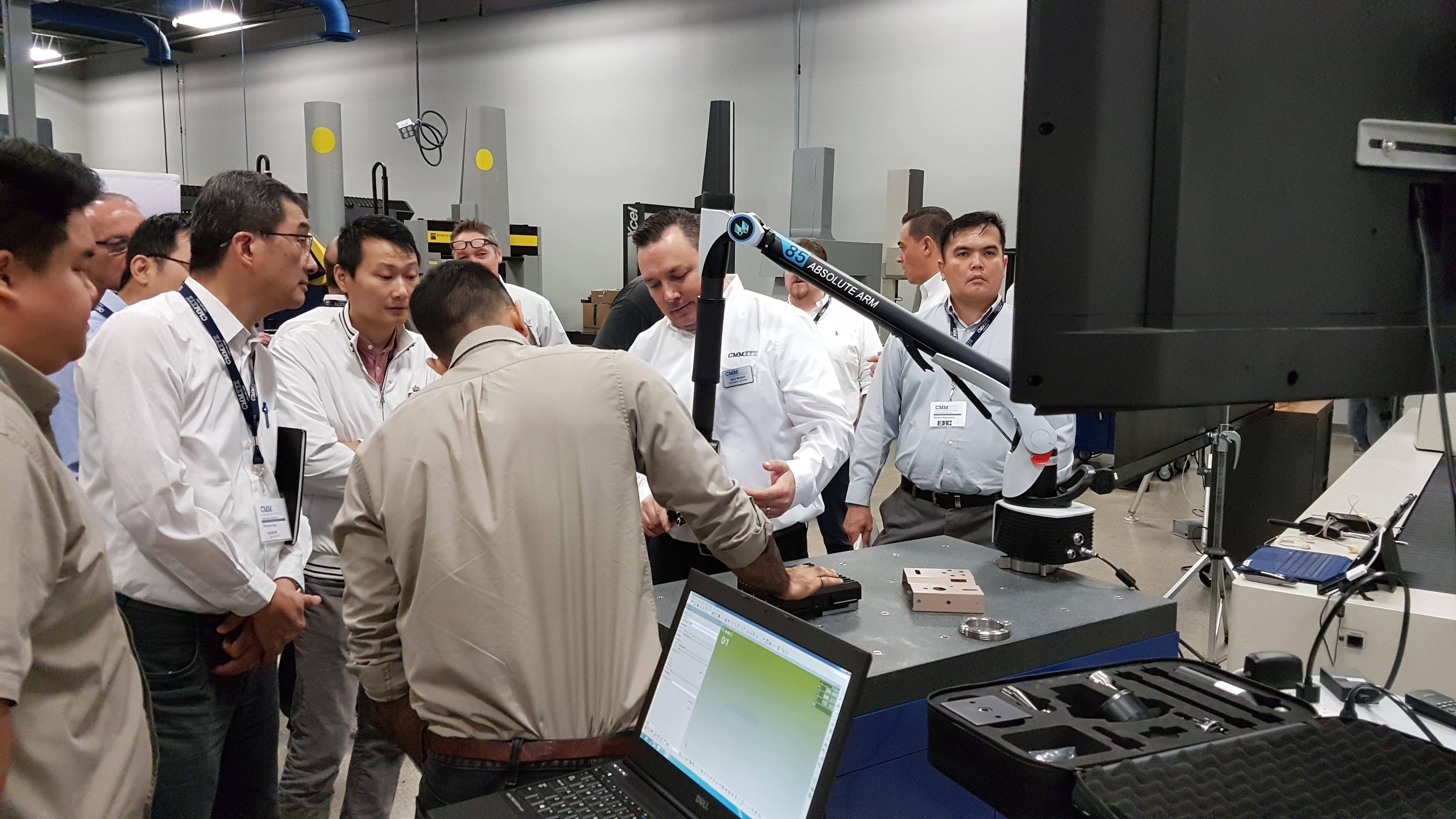 CMMXYZ Allan McNeill demonstrating Hexagon 85 Series Absolute Scanning Arm