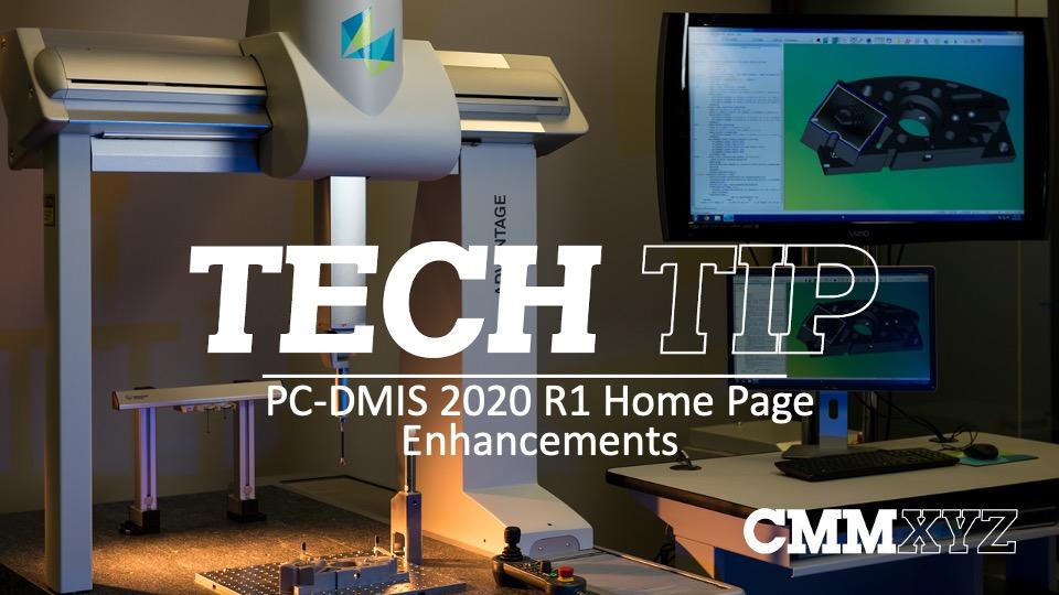 PC-DMIS 2020 Home Page Enhancements Image