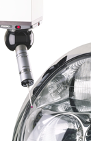 Renishaw SP25 headlight scanning car