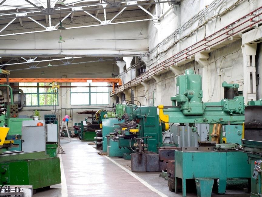 metal working shop floor